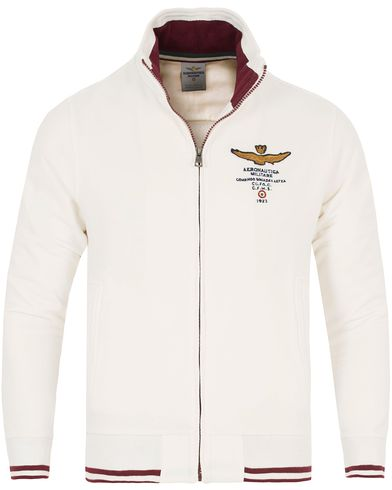 Aeronautica FE1116 Felpa Full Zip White i gruppen Gensere / Zip-gensere hos Care of Carl (13094811r)