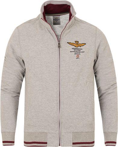 Aeronautica FE1116 Felpa Full Zip Grey Melange i gruppen Tröjor / Zip-tröjor hos Care of Carl (13095011r)