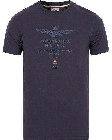 Aeronautica TS1336 Logo Tee Navy i gruppen Kläder / T-Shirts / Kortärmade t-shirts hos Care of Carl (13096211r)