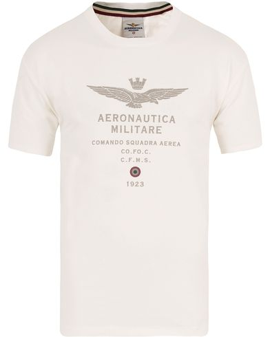 Aeronautica TS1336 Logo Tee White i gruppen T-Shirts / Kortermet T-shirt hos Care of Carl (13096311r)