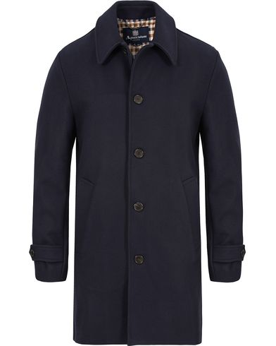 Aquascutum Logan Coat Navy i gruppen Klær / Jakker / Frakker hos Care of Carl (13097011r)