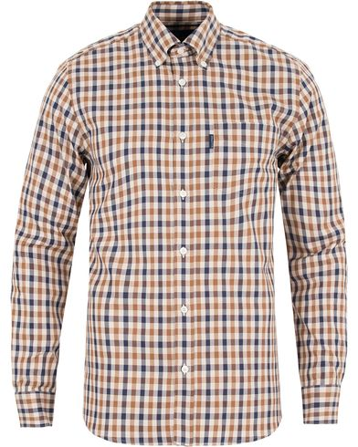 Aquascutum Emsworth Club Check Shirt Vicuña i gruppen Skjorter / Casual skjorter hos Care of Carl (13097511r)