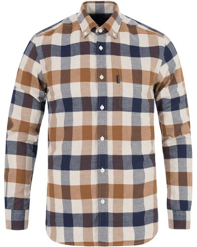 Aquascutum Marcus Flannel Club Check Shirt Vicuña i gruppen Skjorter / Flanellskjorter hos Care of Carl (13097611r)