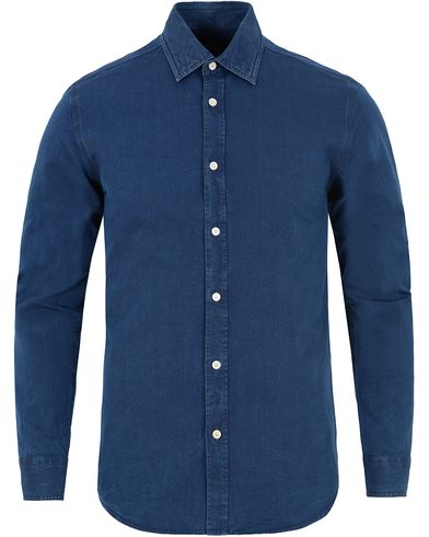 Aquascutum Hastings Denim Shirt Blue i gruppen Design A / Skjorter / Jeansskjorter hos Care of Carl (13097711r)