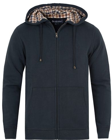 Aquascutum Luther Hooded Sweatshirt Navy i gruppen Gensere / Hettegensere hos Care of Carl (13098011r)