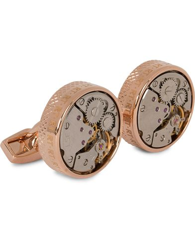 Tateossian Skeleton Vintage Cufflinks Rose Gold Colour Plated  i gruppen Assesoarer / Mansjettknapper hos Care of Carl (13098910)