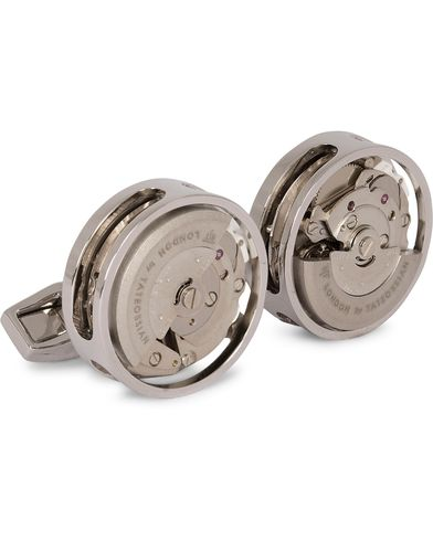 Tateossian Skeleton Automatic Cufflinks Rhodium Plated  i gruppen Assesoarer / Mansjettknapper hos Care of Carl (13099010)