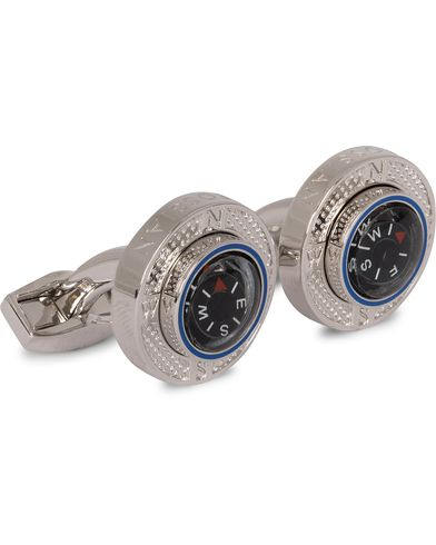 Tateossian Compass Plattform Cufflinks Rhodium Plated  i gruppen Assesoarer / Mansjettknapper hos Care of Carl (13099110)