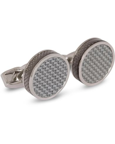 Tateossian Carbon Tablet Cufflinks Grey  i gruppen Assesoarer / Mansjettknapper hos Care of Carl (13100110)