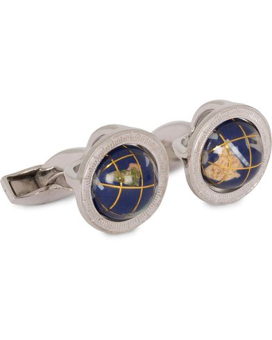 Tateossian Globe Round Cufflinks Multicolour/Silver  i gruppen Assesoarer / Mansjettknapper hos Care of Carl (13100610)