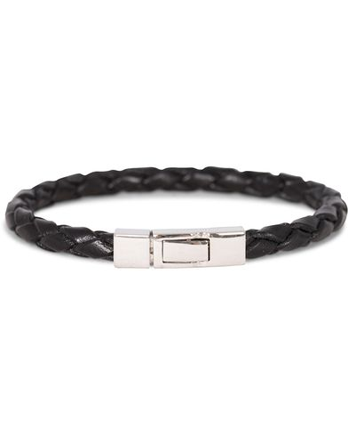 Tateossian Scoubidou Leather Bracelet Black i gruppen Assesoarer / Armbånd hos Care of Carl (13101011r)