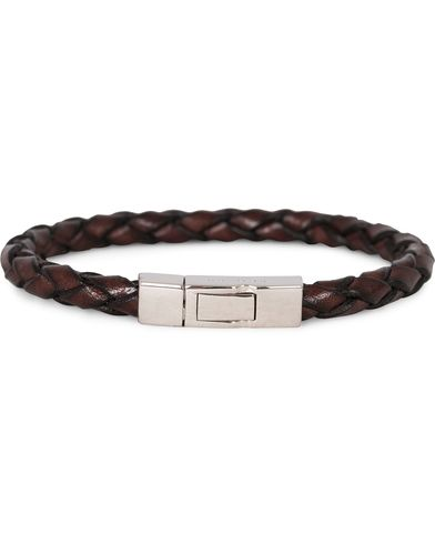 Tateossian Scoubidou Leather Bracelet Brown i gruppen Design B / Accessoarer / Armband hos Care of Carl (13101111r)