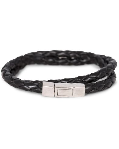 Tateossian Scoubidou Double Leather Bracelet Black i gruppen Accessoarer hos Care of Carl (13101211r)