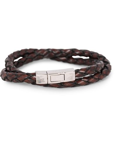 Tateossian Scoubidou Double Leather Bracelet Brown i gruppen Assesoarer / Armbånd hos Care of Carl (13101311r)