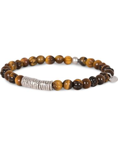 Tateossian Discs Round Bracelet Tiger Eye i gruppen Accessoarer hos Care of Carl (13102011r)