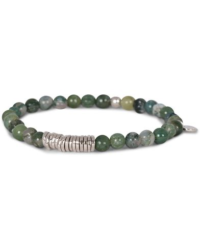 Tateossian Discs Round Bracelet Moss Agate i gruppen Accessoarer / Armband hos Care of Carl (13102111r)