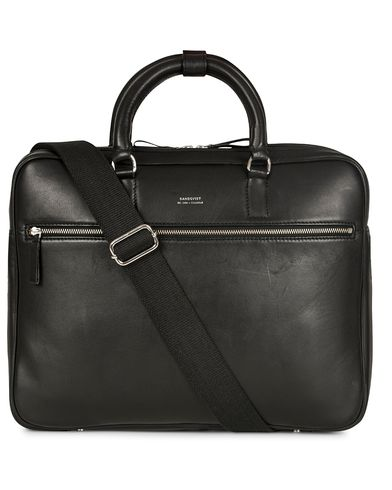 Sandqvist Dag Leather Briefcase Black  i gruppen Accessoarer / Väskor / Portföljer hos Care of Carl (13103010)