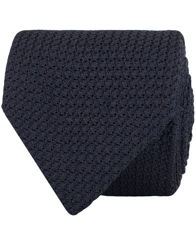 Amanda Christensen Silk Grenadine 8cm Tie Navy  i gruppen Accessoarer / Slipsar hos Care of Carl (13103610)