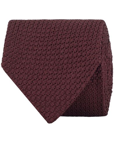 Amanda Christensen Silk Grenadine 8cm Tie Bordeaux Red  i gruppen Accessoarer / Slipsar hos Care of Carl (13103710)