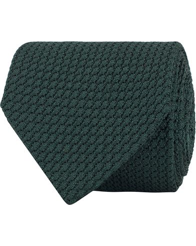 Amanda Christensen Silk Grenadine 8cm Tie Green  i gruppen Assesoarer / Slips hos Care of Carl (13103810)