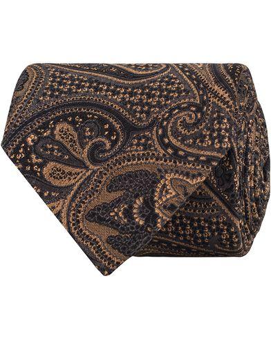 Amanda Christensen Silk/Wool Paisley 8cm Tie Black i gruppen Assesoarer / Slips hos Care of Carl (13104210)