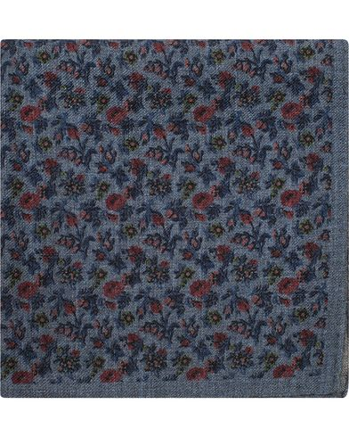 Amanda Christensen Wool Melange Printed Pocket Square Blue  i gruppen Accessoarer / Näsdukar hos Care of Carl (13106010)