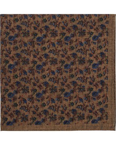Amanda Christensen Wool Melange Printed Pocket Square Brown  i gruppen Assesoarer / Lommetørklær hos Care of Carl (13106210)