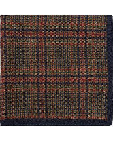 Amanda Christensen Wool/Silk Tweed Pocket Square Blue  i gruppen Assesoarer / Lommetørklær hos Care of Carl (13106410)