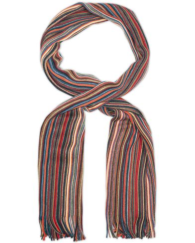 Amanda Christensen Winter Wool Scarf Thin Stripe Multi Colour  i gruppen Accessoarer / Halsdukar hos Care of Carl (13106610)