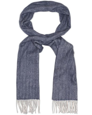 Amanda Christensen Winter Wool Herringbone Scarf Navy  i gruppen Accessoarer / Halsdukar hos Care of Carl (13107710)