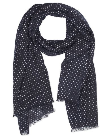 Amanda Christensen Wool Dot Scarf Navy  i gruppen Accessoarer / Scarves hos Care of Carl (13108010)