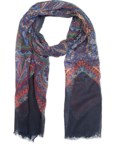 Amanda Christensen Wool Paisley Scarf Multi  i gruppen Assesoarer / Scarves hos Care of Carl (13108110)