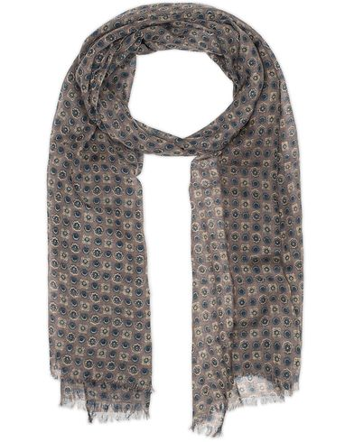 Amanda Christensen Wool Medallion Scarf Brown  i gruppen Accessoarer / Scarves hos Care of Carl (13108310)