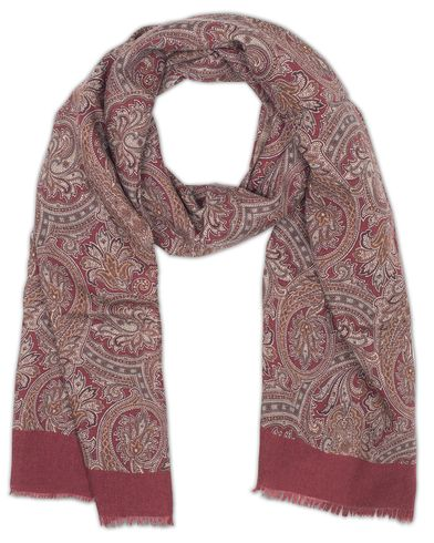 Amanda Christensen Wool Pasiley Scarf Bordeaux Red  i gruppen Accessoarer / Scarves hos Care of Carl (13108710)