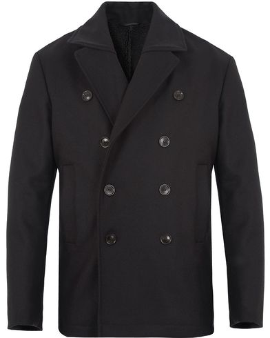 Filippa K Mark Wool Peacoat Black i gruppen Jackor / Skepparkavajer hos Care of Carl (13109411r)