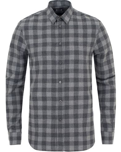 Filippa K Pierre Gingham Flannel Shirt Dark Grey i gruppen Skjortor / Flanellskjortor hos Care of Carl (13110611r)