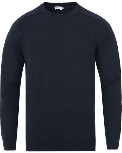Filippa K Cotton Merino Sweater Navy i gruppen Kläder / Tröjor / Pullovers / Rundhalsade pullovers hos Care of Carl (13111211r)