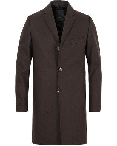 J.Lindeberg Wolger Compact Melton Coat Brown i gruppen Jakker / Vinterjakker hos Care of Carl (13113511r)