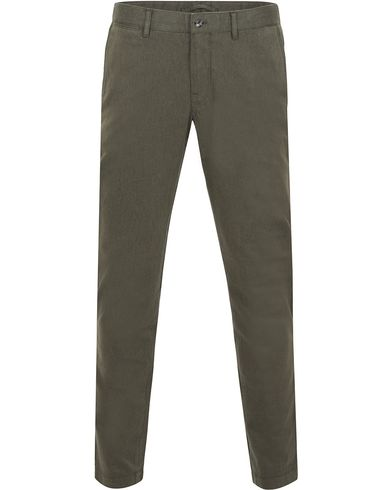 J.Lindeberg Chaze Flannel Twill Chino Maori Green i gruppen Byxor / Flanellbyxor hos Care of Carl (13114011r)
