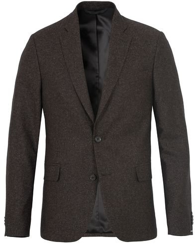 J.Lindeberg Hopper Soft Silk Tweed Blazer Brown i gruppen Dressjakker / Enkeltspente dressjakker hos Care of Carl (13115211r)