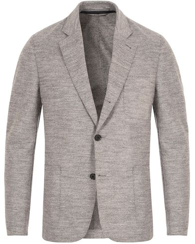 J.Lindeberg Piemonte Raw Filted Blazer Light Grey Melange i gruppen Design A / Dressjakker / Enkeltspente dressjakker hos Care of Carl (13115311r)