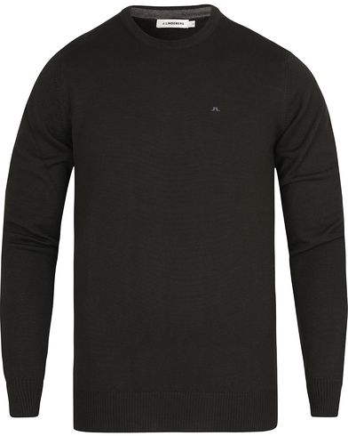 J.Lindeberg Lyle True Merino Crew Neck Pullover Black i gruppen Tröjor / Pullovers / Rundhalsade pullovers hos Care of Carl (13115911r)