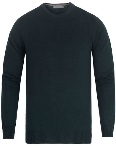J.Lindeberg Lyle True Merino Crew Neck Pullover Military Green i gruppen Tröjor / Pullovers / Rundhalsade pullovers hos Care of Carl (13116111r)