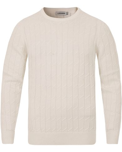 J.Lindeberg Hugo Square Braided Off White i gruppen Tr�jor / Stickade Tr�jor hos Care of Carl (13117011r)