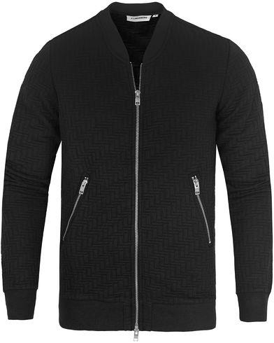 J.Lindeberg Randall Quilt Jersey Black i gruppen Kläder / Tröjor / Zip-tröjor hos Care of Carl (13117611r)