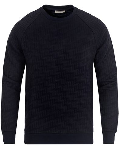 J.Lindeberg Chad Quilt Jersey Sweatshirt Midnight i gruppen Tröjor / Sweatshirts hos Care of Carl (13117711r)