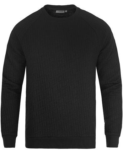 J.Lindeberg Chad Quilt Jersey Sweatshirt Black i gruppen Tröjor / Sweatshirts hos Care of Carl (13117811r)