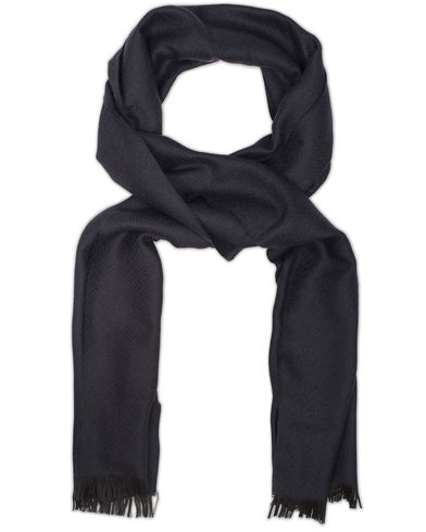 J.Lindeberg Solido Tribal Herringbone Scarf Navy  i gruppen Design A / Assesoarer / Skjerf hos Care of Carl (13118610)