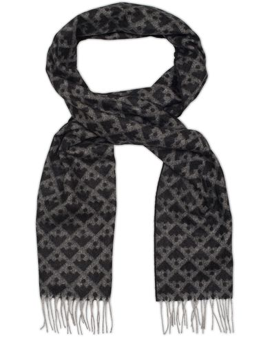 Bally Angora Jaquard Wool Scarf Multi Grey  i gruppen Assesoarer / Skjerf hos Care of Carl (13119010)