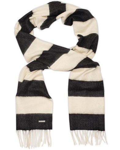 Bally Block Stripe Cashmere Scarf Black/White  i gruppen Accessoarer / Halsdukar hos Care of Carl (13119110)